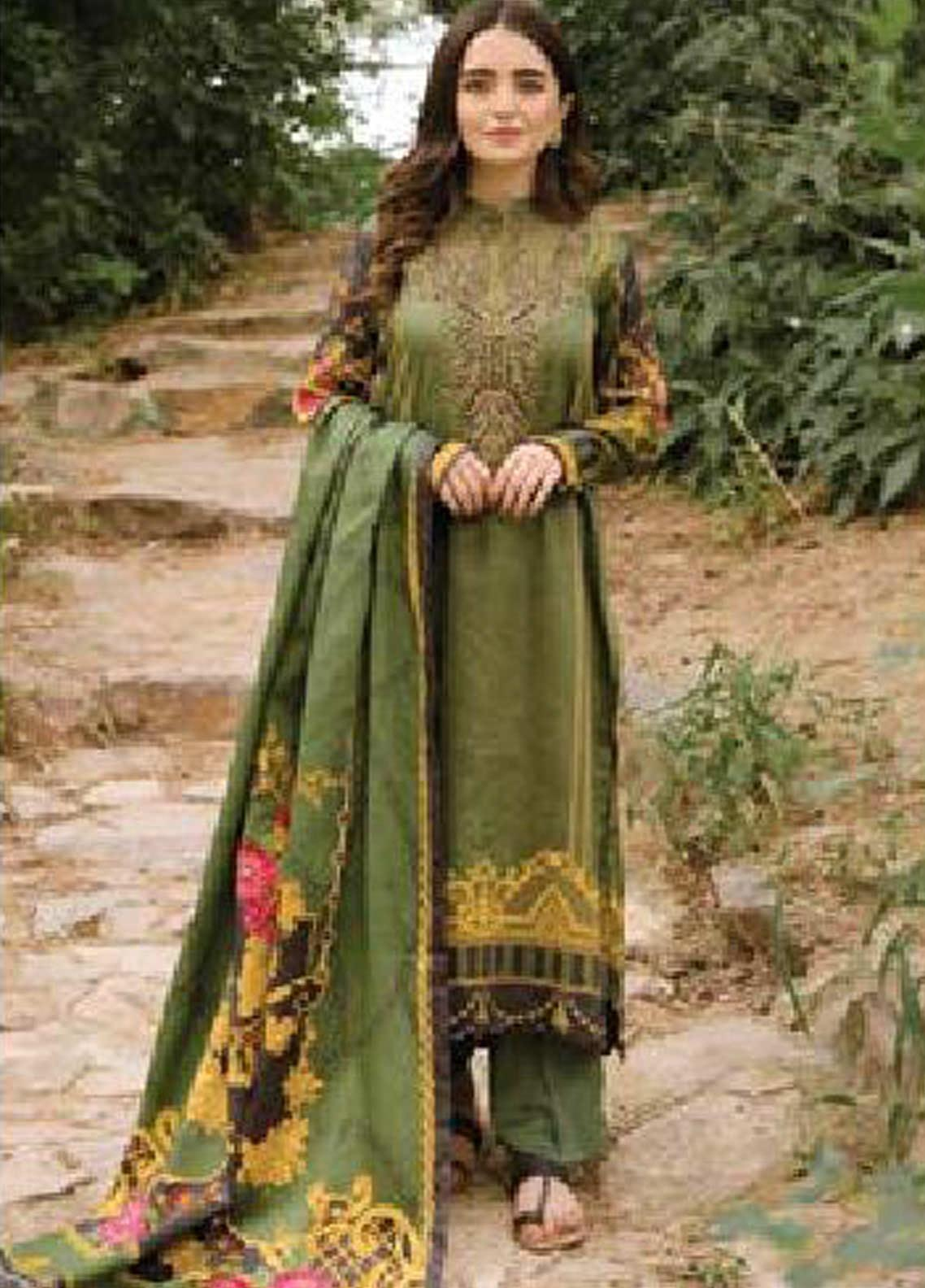 MYSA by Orient Embroidered Cottel Linen Unstitched 3 Piece Suit OT20-MW2 216 B - Winter Collection