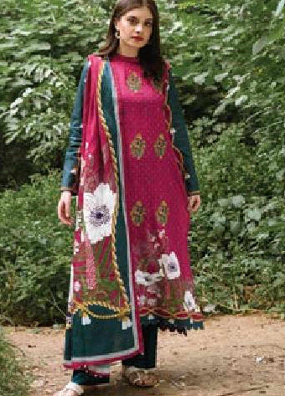 MYSA by Orient Embroidered Cottel Linen Unstitched 3 Piece Suit OT20-MW2 217 B - Winter Collection