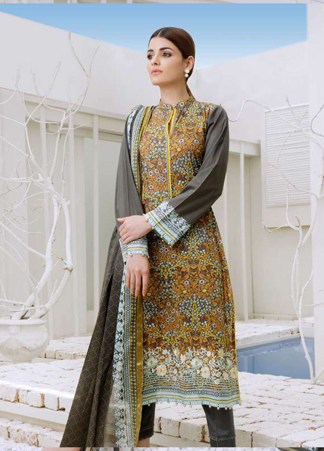 Orient Textile Embroidered Lawn Unstitched 3 Piece Suit OT19-L2 129 A - Spring / Summer Collection