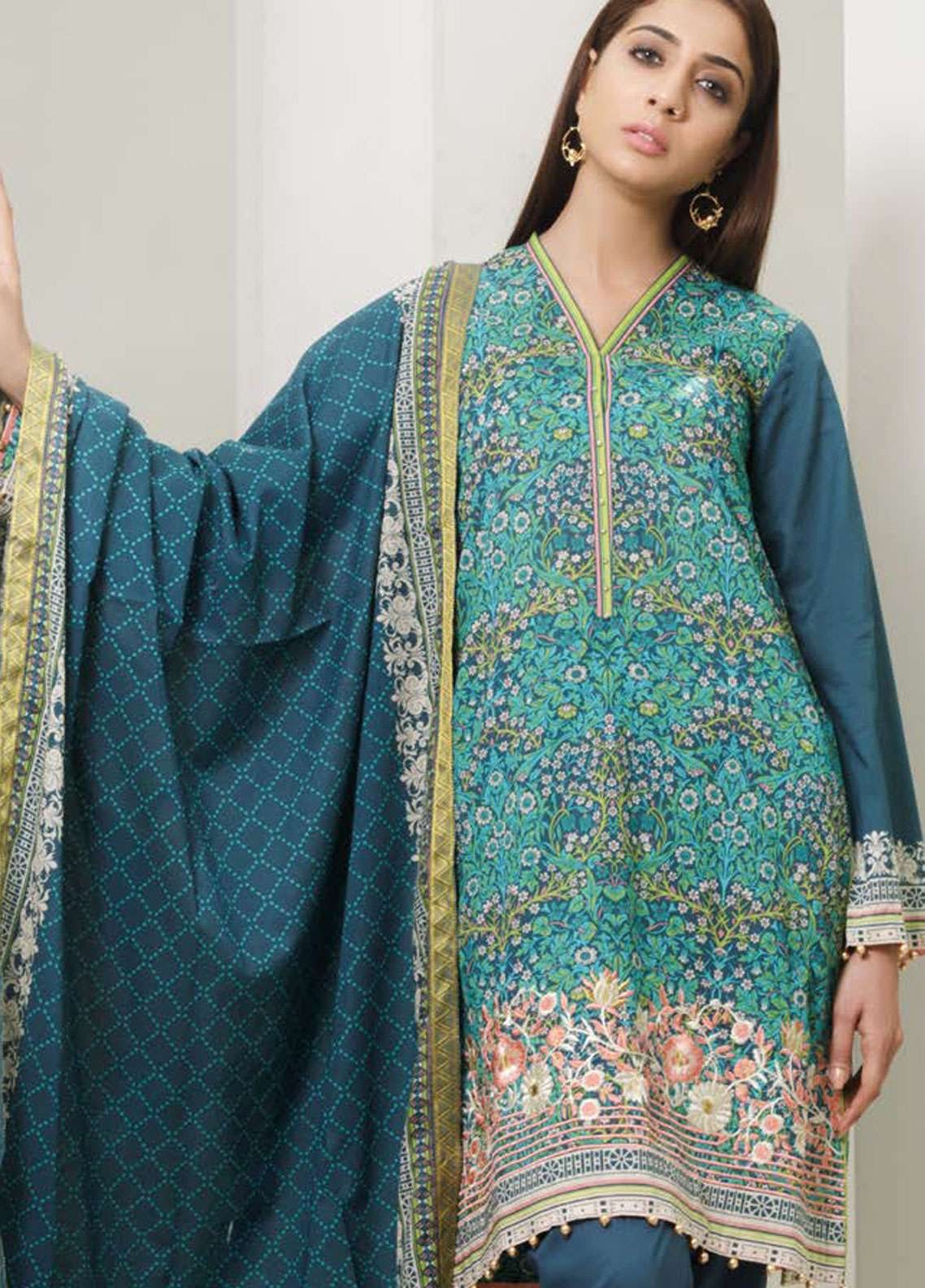 Orient Textile Embroidered Lawn Unstitched 3 Piece Suit OT19-L2 129 B - Spring / Summer Collection