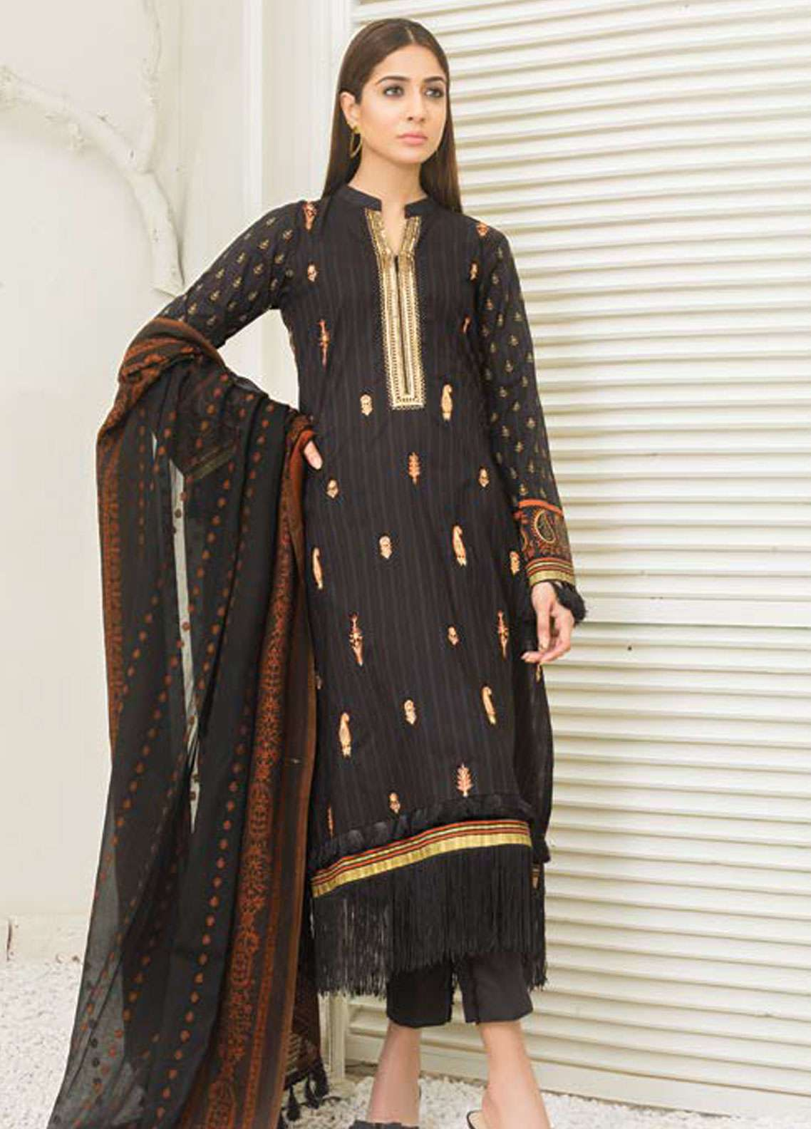 Orient Textile Embroidered Lawn Unstitched 3 Piece Suit OT19-L2 133 A - Spring / Summer Collection