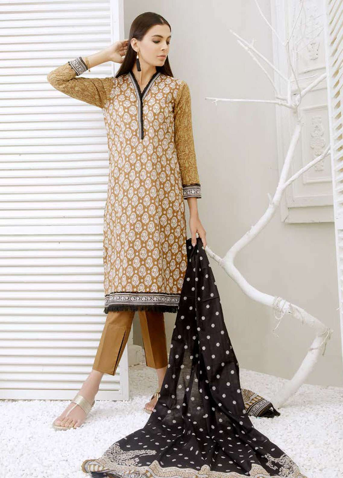 Orient Textile Printed  Lawn Unstitched 3 Piece Suit OT19-L2 134 B - Spring / Summer Collection