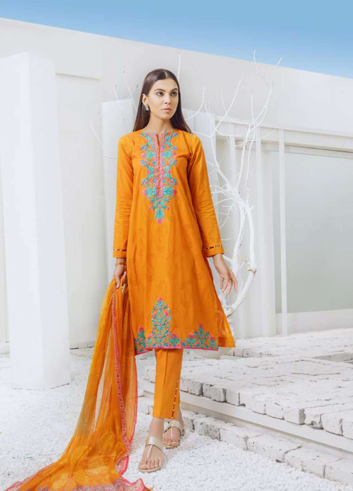 Orient Textile Embroidered Jacquard Unstitched 3 Piece Suit OT19-L2 137 B - Spring / Summer Collection