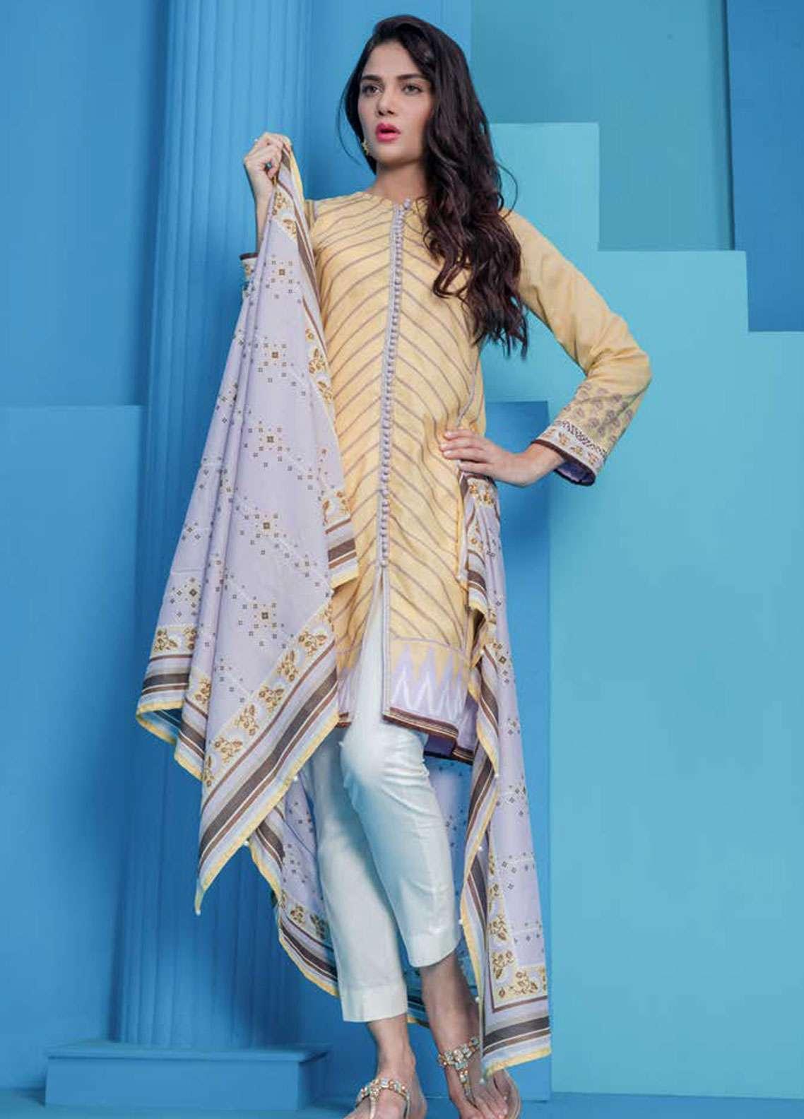 Orient Textile Printed Lawn Unstitched 2 Piece Suit OT19L 020 Ikat B - Spring / Summer Collection