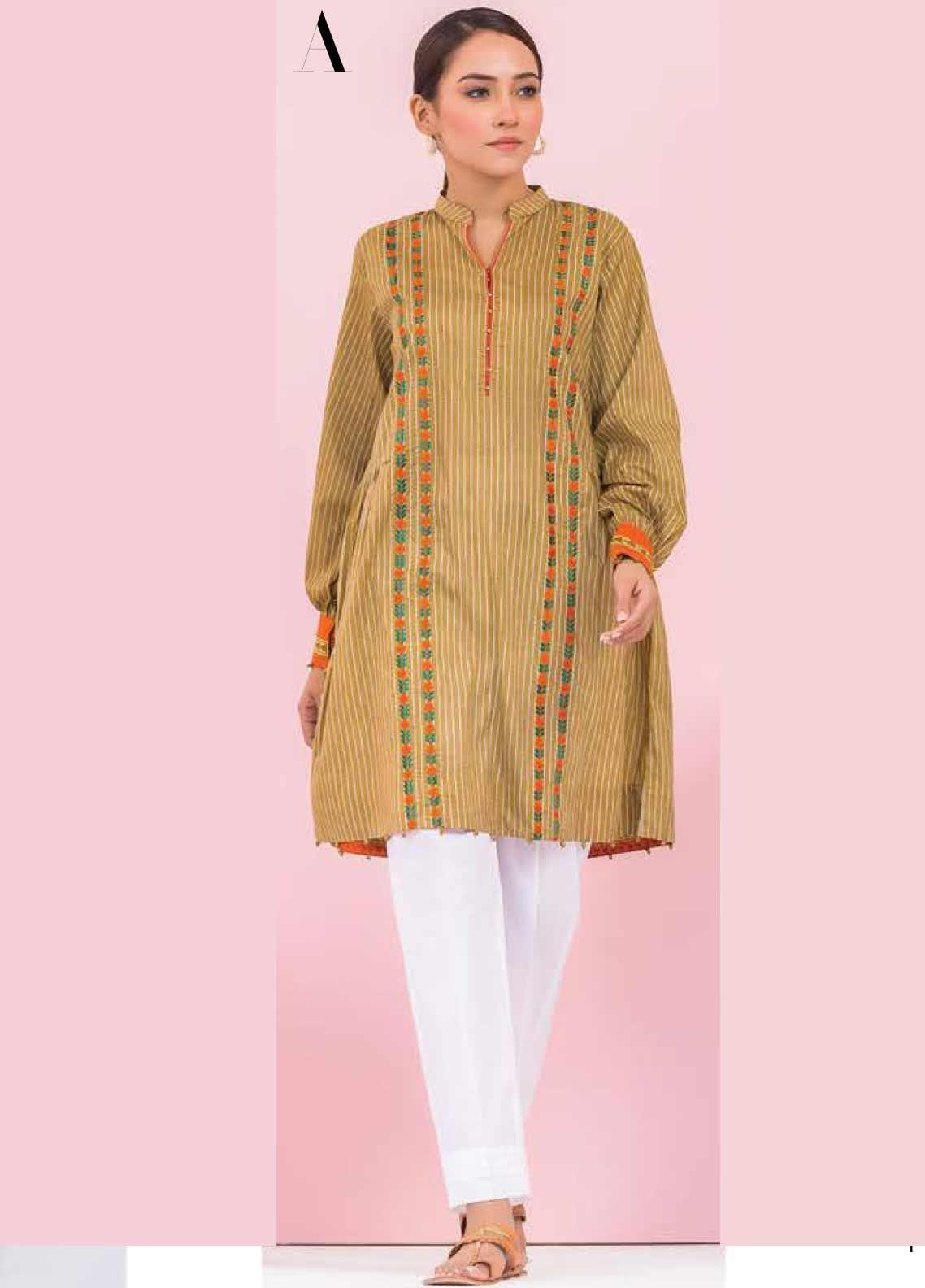 Orient Textile Embroidered Lawn Unstitched Kurties OT20SS 005A - Spring / Summer Collection
