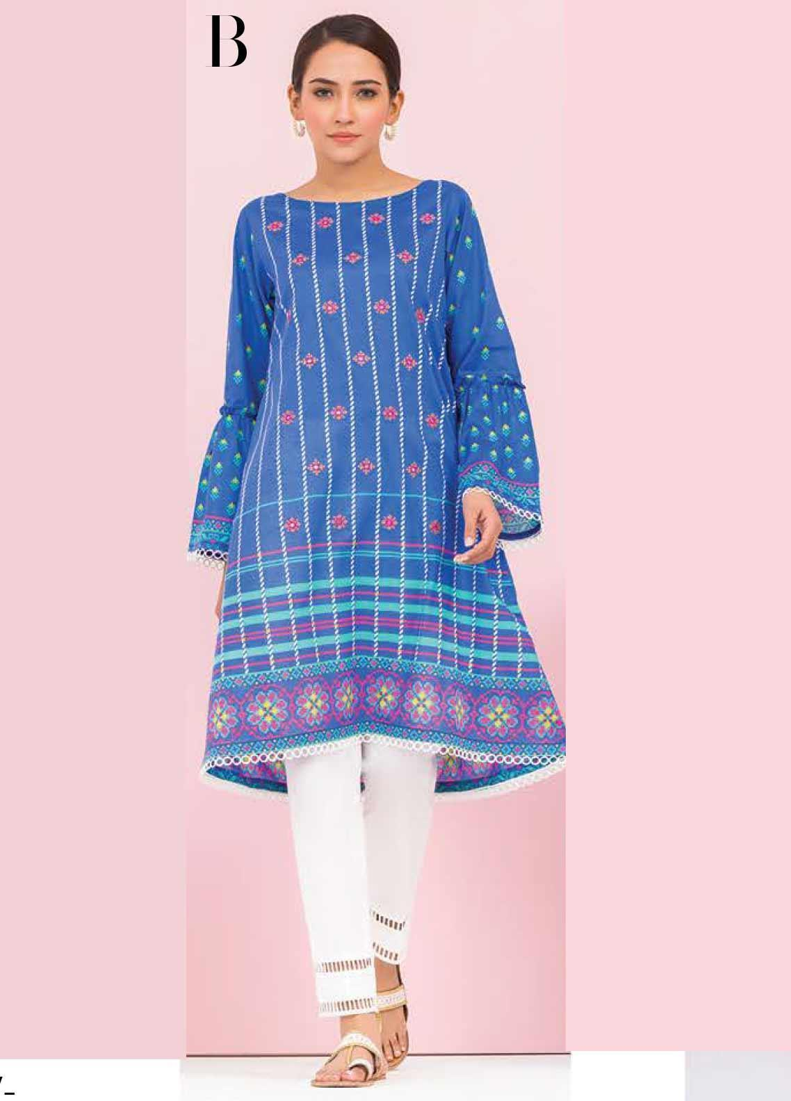 Orient Textile Embroidered Lawn Unstitched Kurties OT20SS 014B - Spring / Summer Collection
