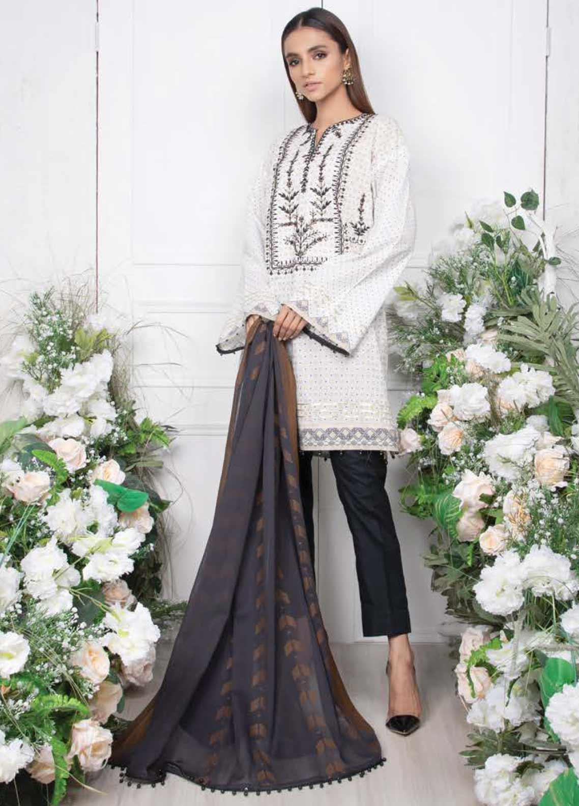 Orient Textile Embroidered Lawn Unstitched 3 Piece Suit OT20SS 018A - Spring / Summer Collection