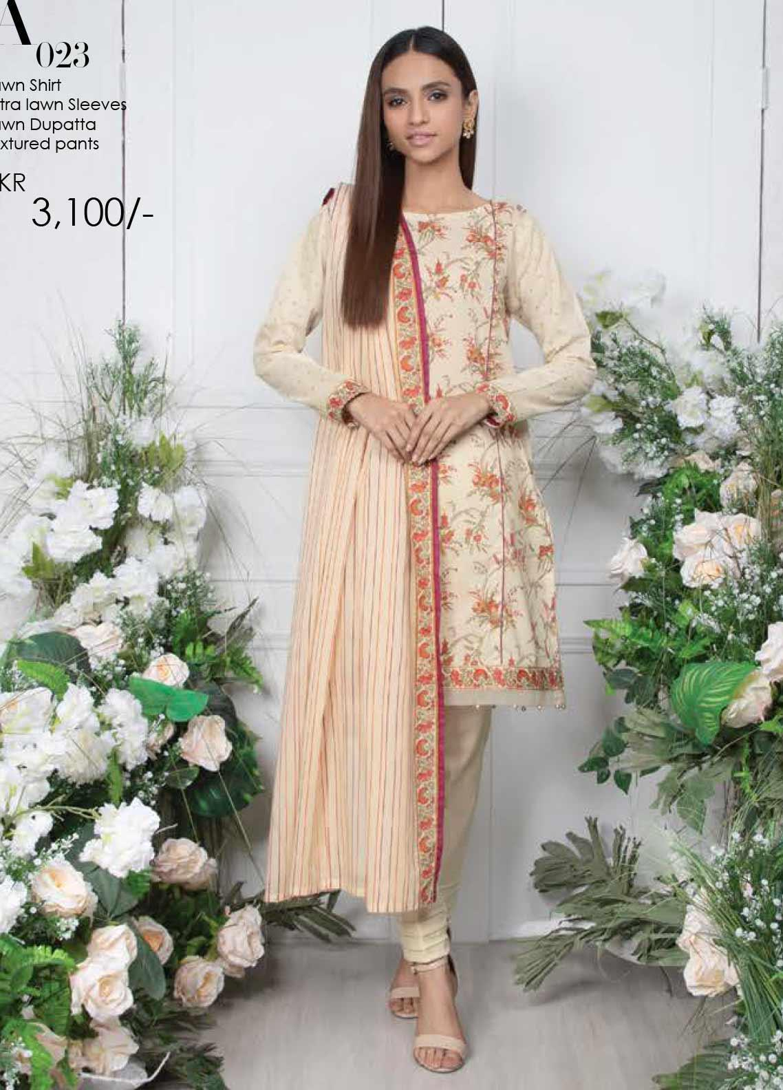 Orient Textile Printed Lawn Unstitched 3 Piece Suit OT20SS 023A - Spring / Summer Collection