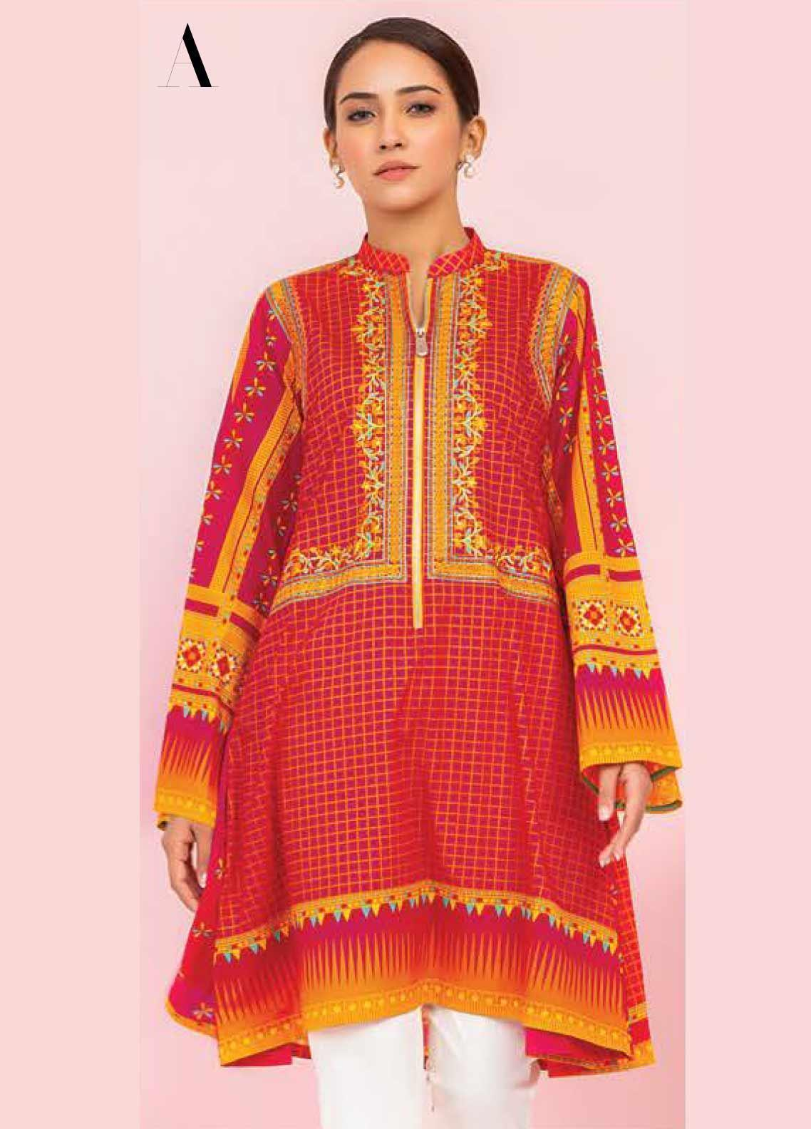 Orient Textile Embroidered Lawn Unstitched Kurties OT20SS 036A - Spring / Summer Collection