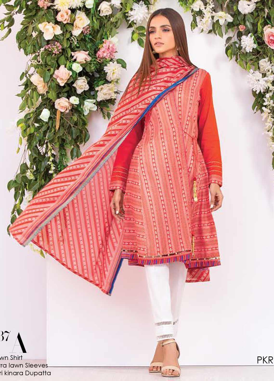 Orient Textile Printed Lawn Unstitched 2 Piece Suit OT20SS 037A - Spring / Summer Collection