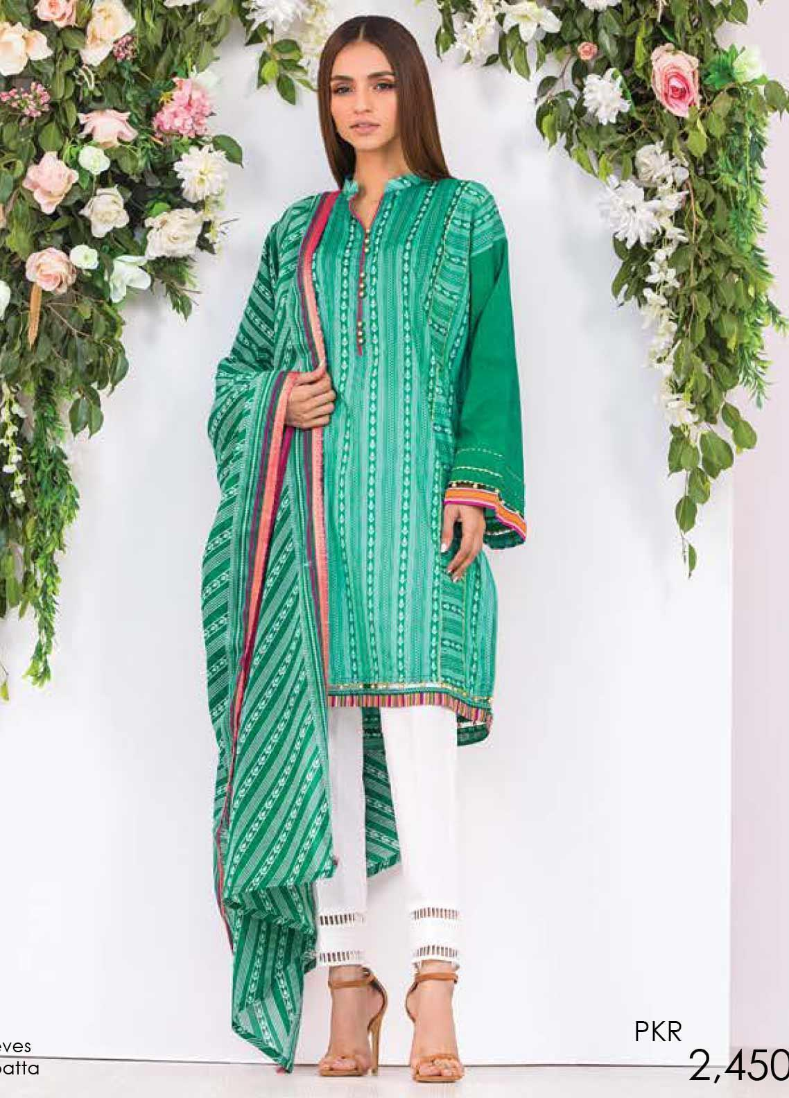 Orient Textile Printed Lawn Unstitched 2 Piece Suit OT20SS 037B - Spring / Summer Collection