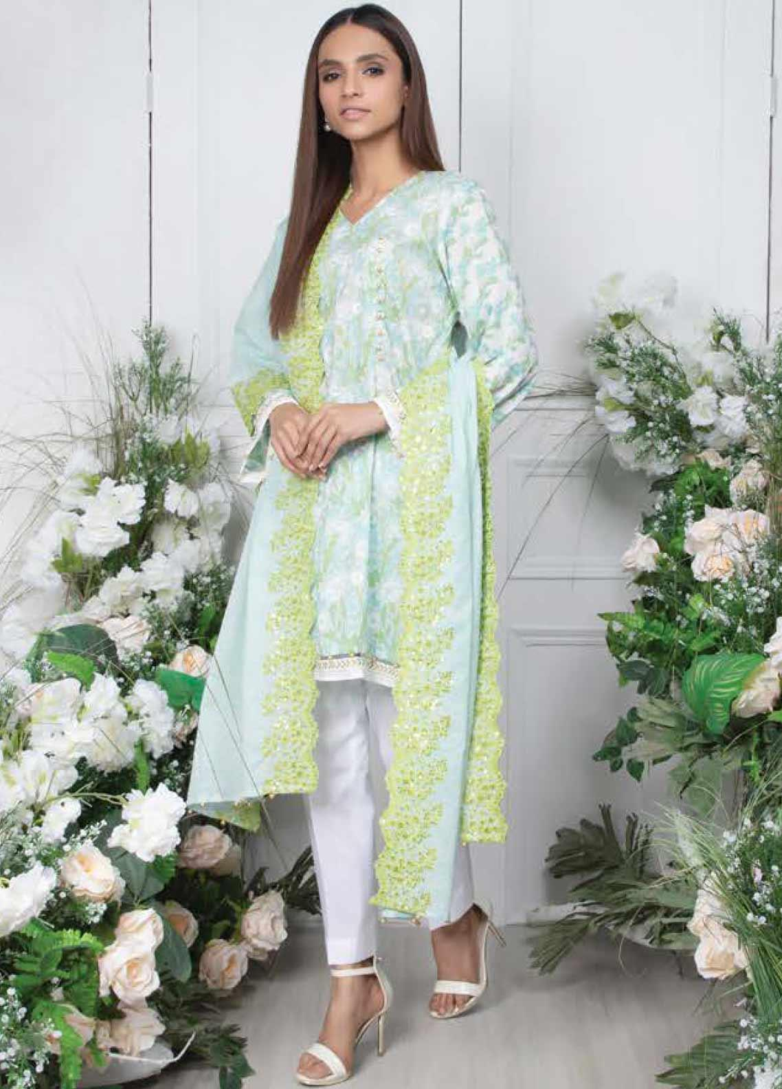 Orient Textile Embroidered Lawn Unstitched 3 Piece Suit OT20SS 040A - Spring / Summer Collection