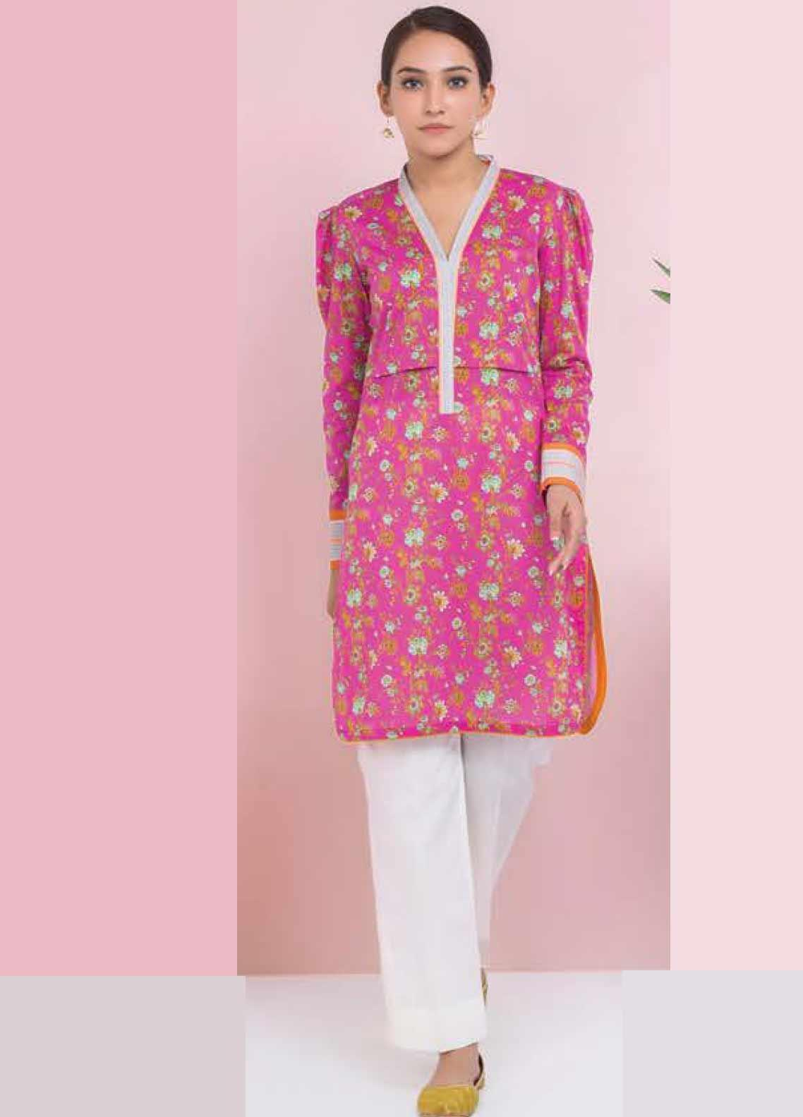 Orient Textile Printed Lawn Unstitched Kurties OT20SS 043A - Spring / Summer Collection