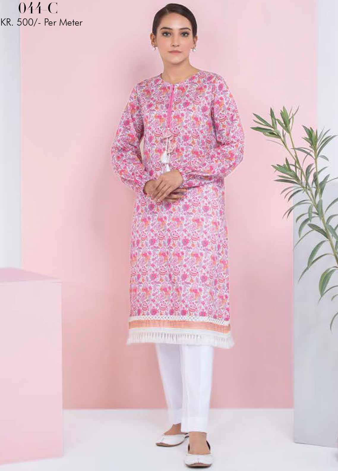 Orient Textile Printed Lawn Unstitched Kurties OT20SS 044C - Spring / Summer Collection