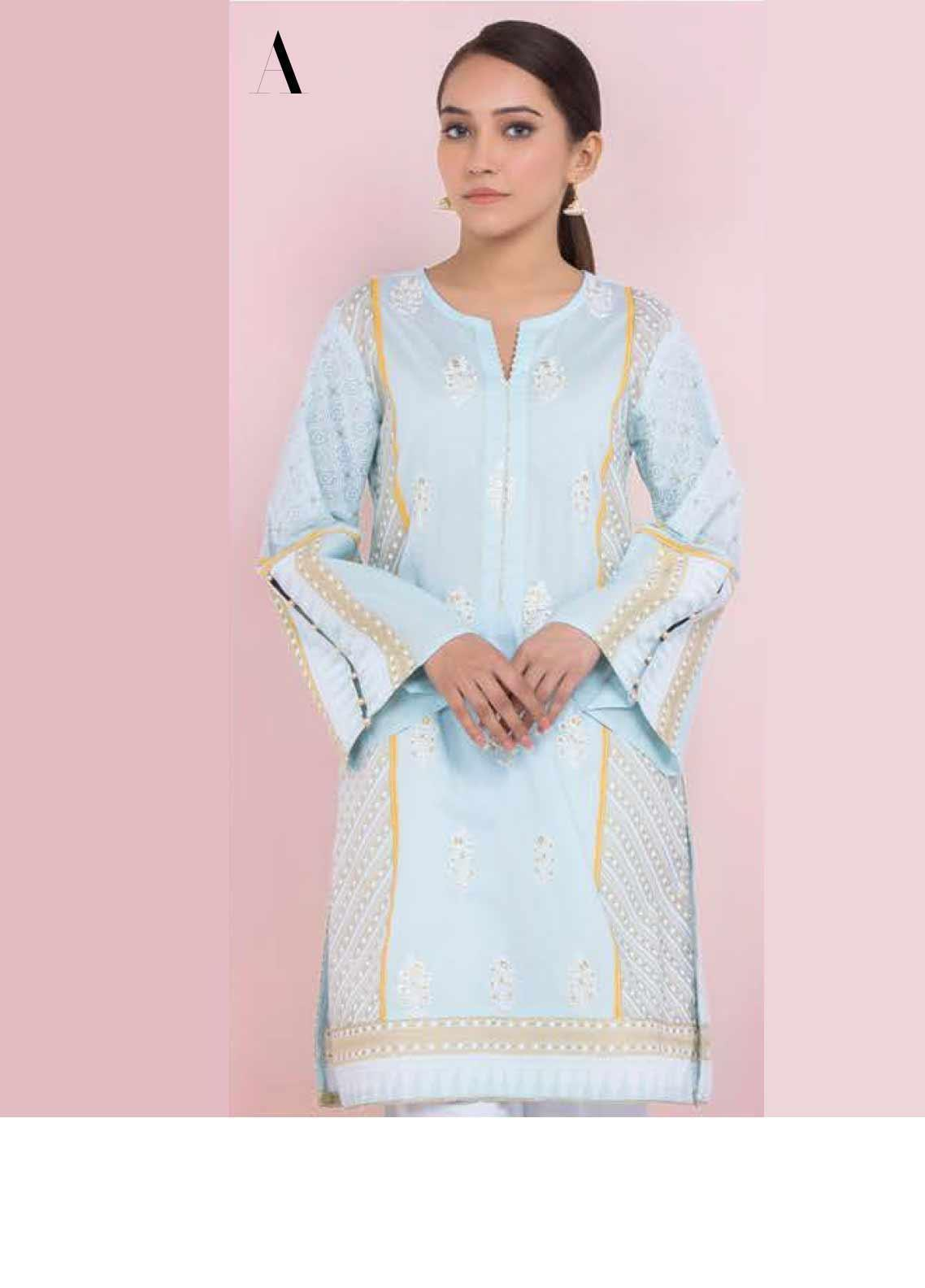 Orient Textile Embroidered Lawn Unstitched Kurties OT20SS 045A - Spring / Summer Collection