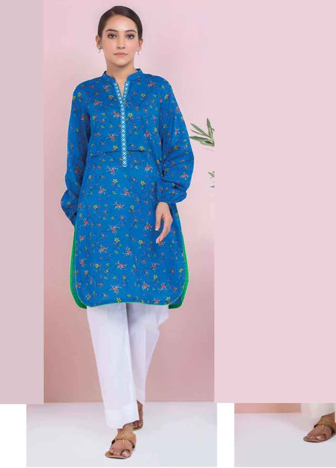 Orient Textile Printed Lawn Unstitched Kurties OT20SS 052A - Spring / Summer Collection