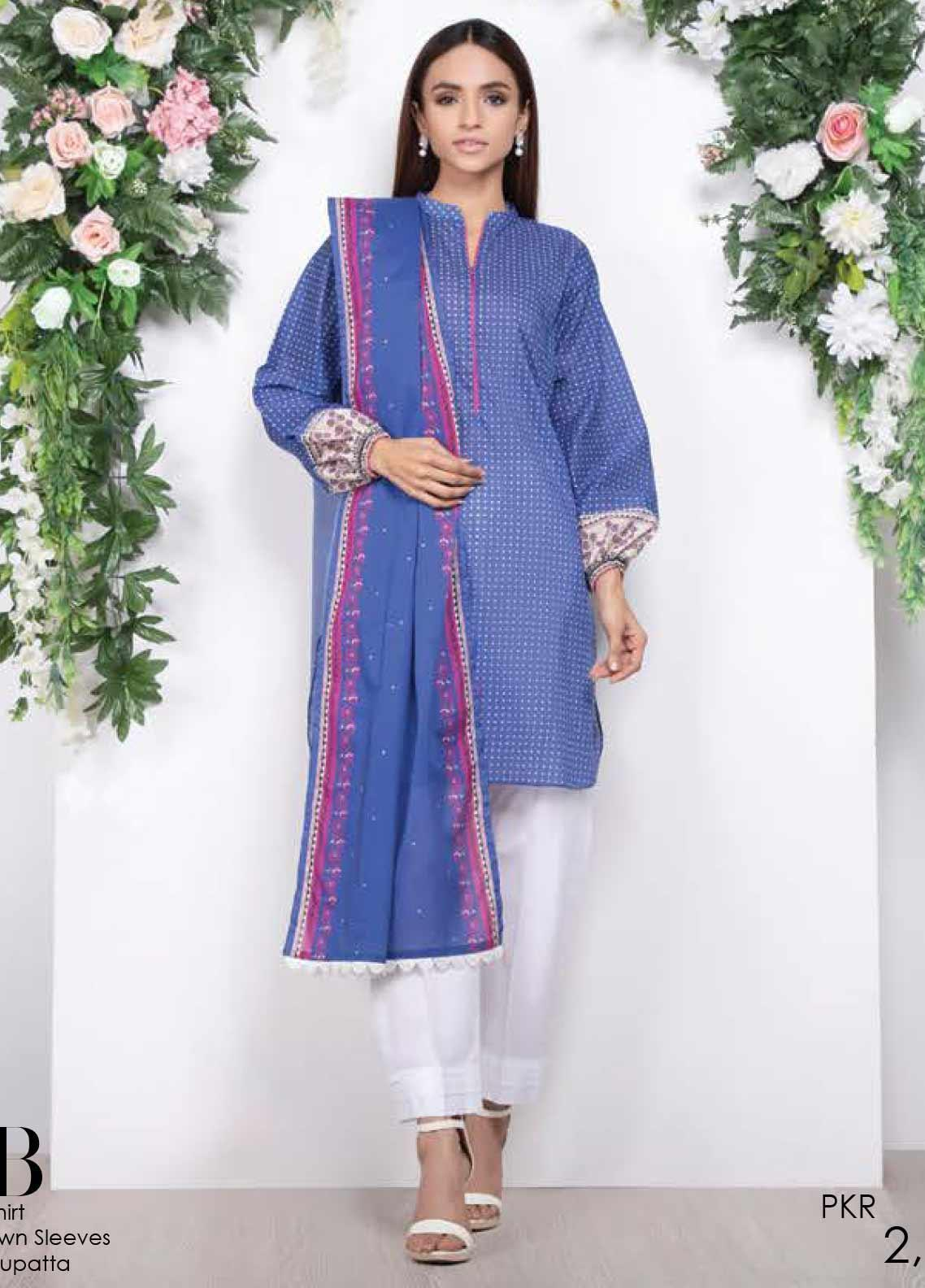 Orient Textile Printed Lawn Unstitched 2 Piece Suit OT20SS 069B - Spring / Summer Collection