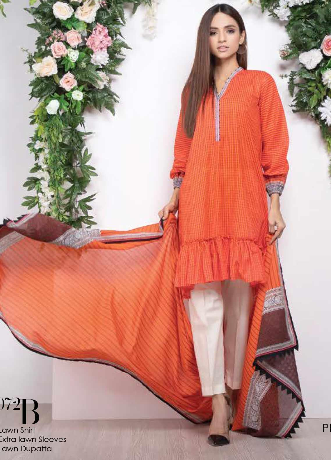 Orient Textile Printed Lawn Unstitched 2 Piece Suit OT20SS 072B - Spring / Summer Collection