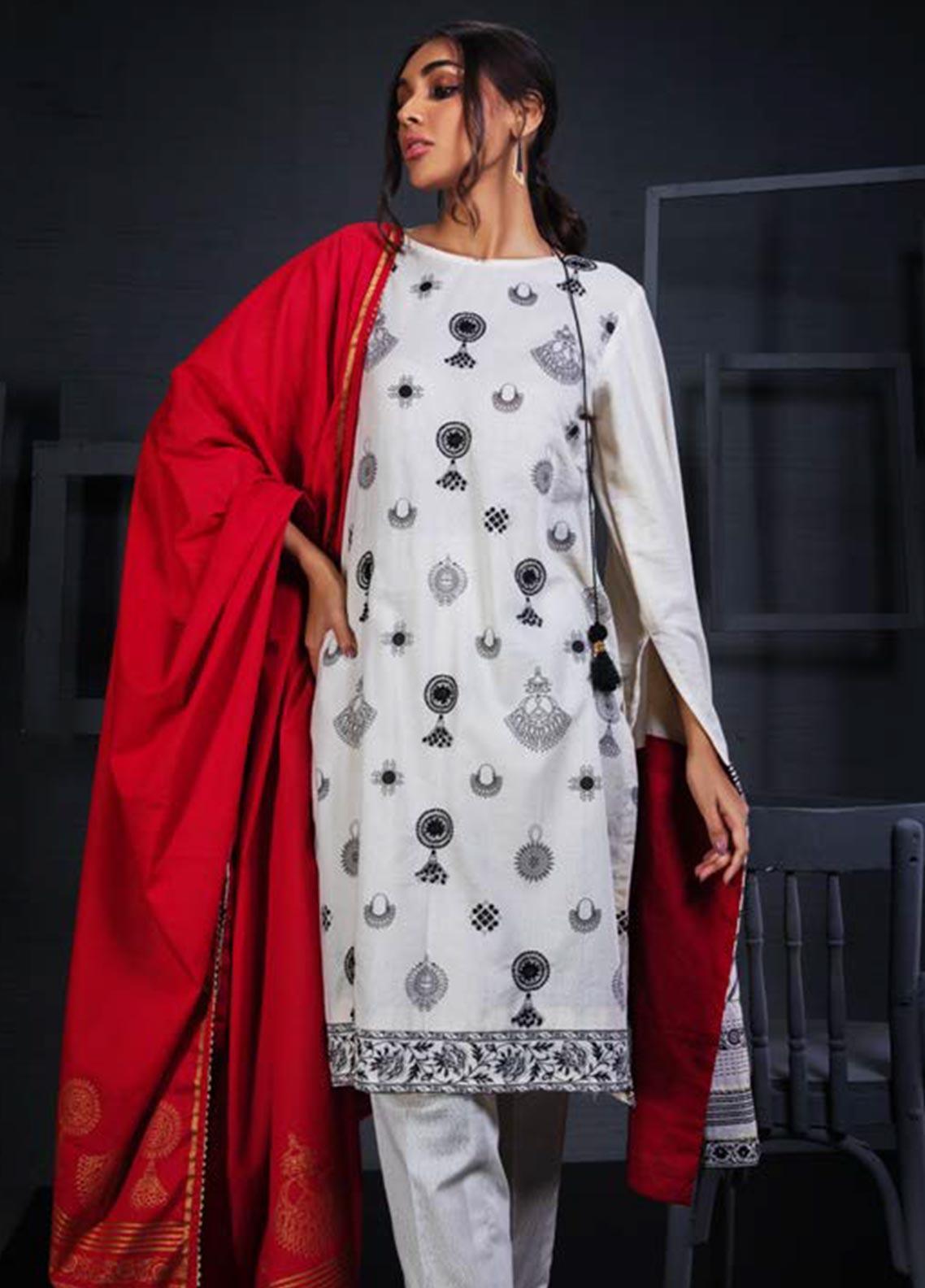 Orient Textile Embroidered Karandi Unstitched 3 Piece Suit OT19W 180 ZEVAR A - Winter Collection