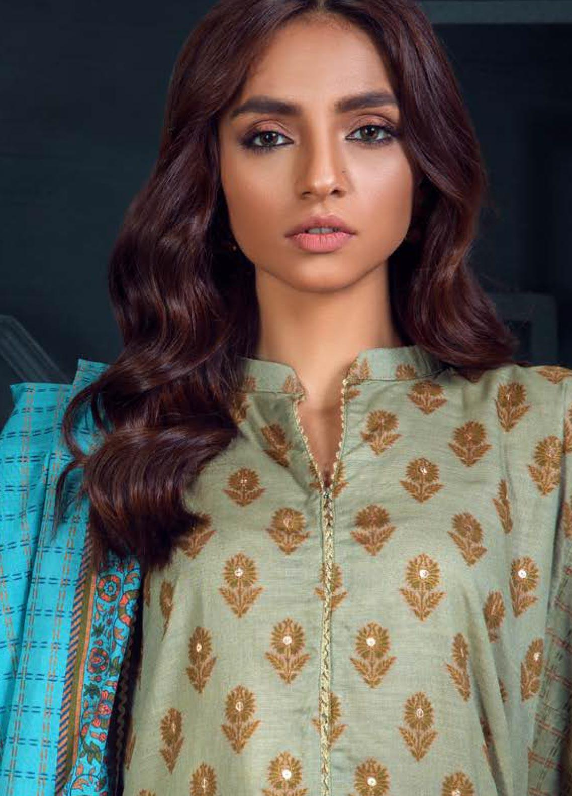 Orient Textile Embroidered Khaddar Unstitched 3 Piece Suit OT19W 188 HARVEST B - Winter Collection