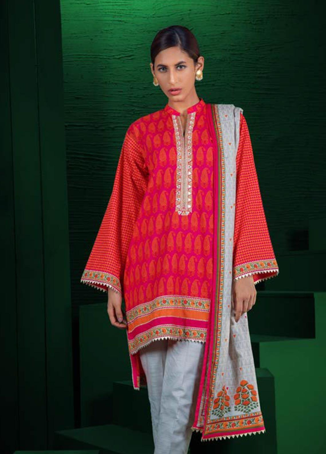 Orient Textile Embroidered Khaddar Unstitched 3 Piece Suit OT19W 192 BEAM A - Winter Collection