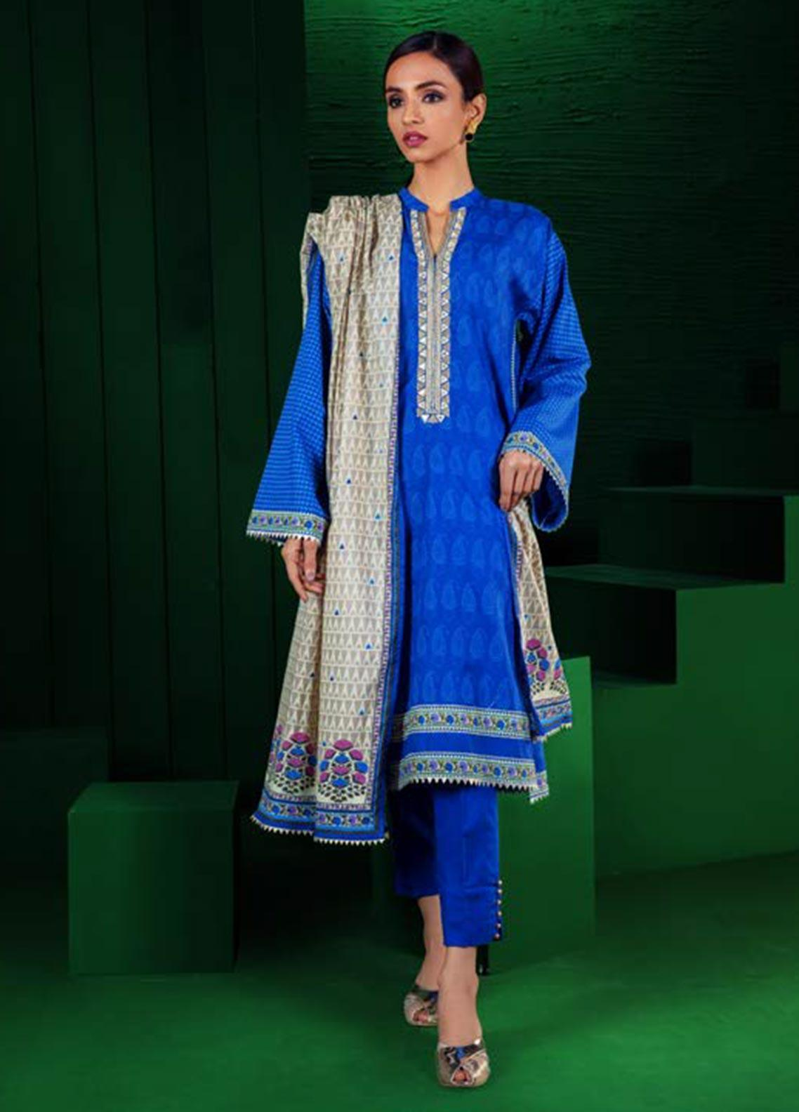 Orient Textile Embroidered Khaddar Unstitched 3 Piece Suit OT19W 192 BEAM B - Winter Collection