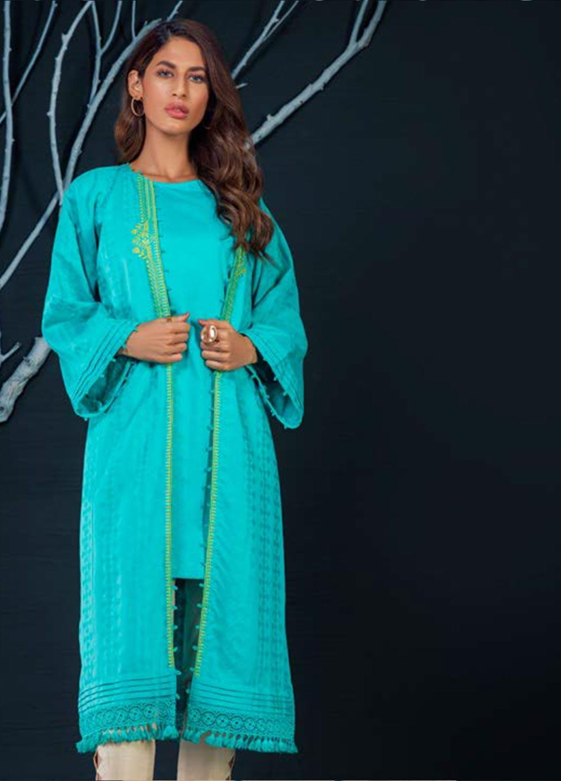 Orient Textile Embroidered Karandi Unstitched Kurties OT19W 229 MAGNET A - Winter Collection