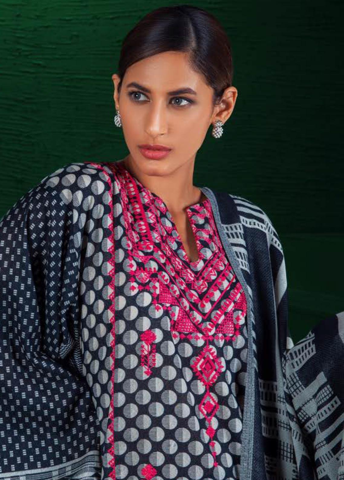 Orient Textile Embroidered Karandi Unstitched 3 Piece Suit OT19W 239 SATURN A - Winter Collection