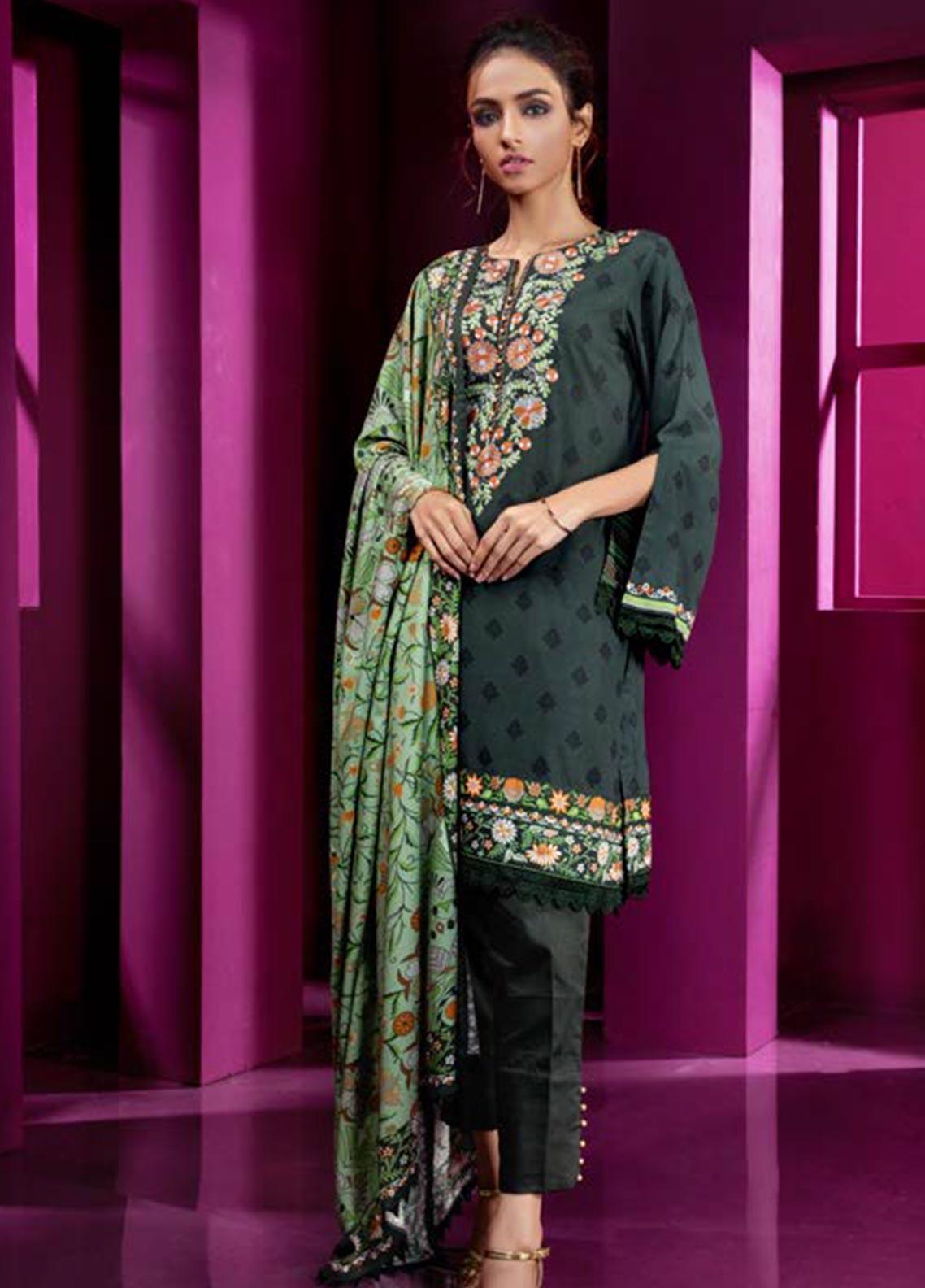 Orient Textile Embroidered Linen Unstitched 3 Piece Suit OT19W 242 MAZE B - Winter Collection