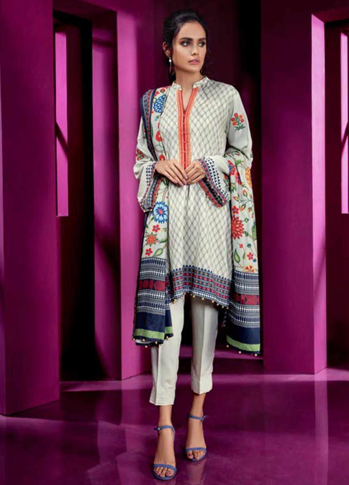 Orient Textile Embroidered Linen Unstitched 3 Piece Suit OT19W 243 MYSTRY A - Winter Collection
