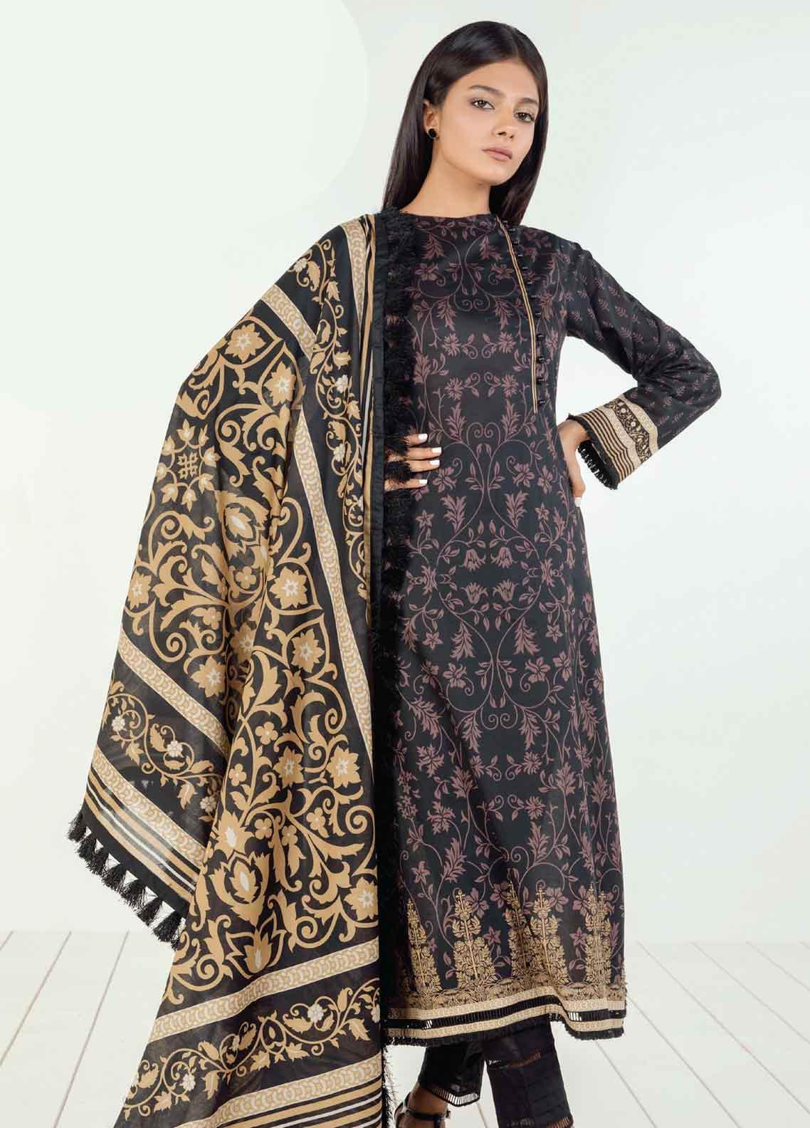 Orient Textile Printed Lawn Unstitched 3 Piece Suit OT19BW 125 - Black & White Collection