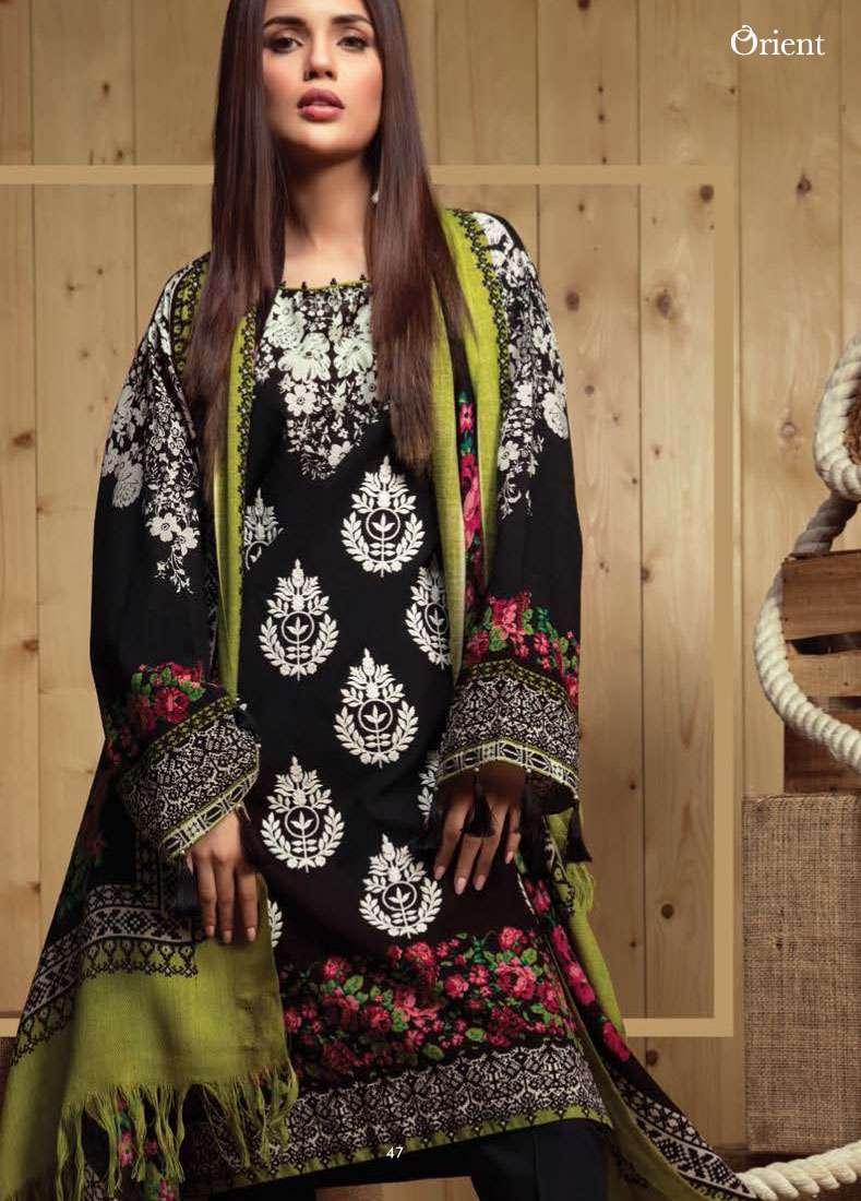 Orient Textile Embroidered Linen Unstitched 3 Piece Suit OT17W2 184A