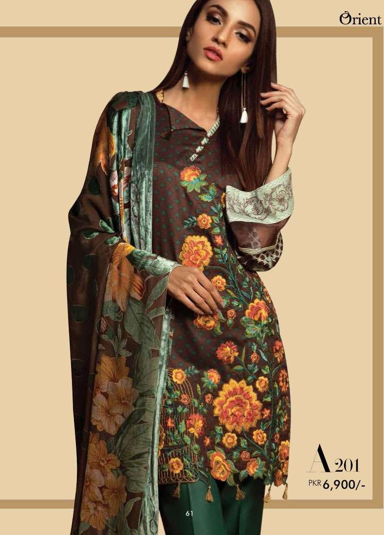 Orient Textile Embroidered Linen Unstitched 3 Piece Suit OT17W2 201A