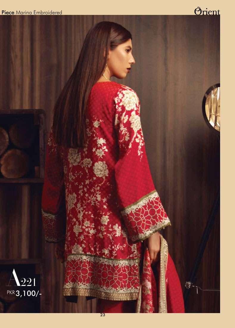 Orient Textile Embroidered Marina Unstitched 3 Piece Suit OT17W2 221A
