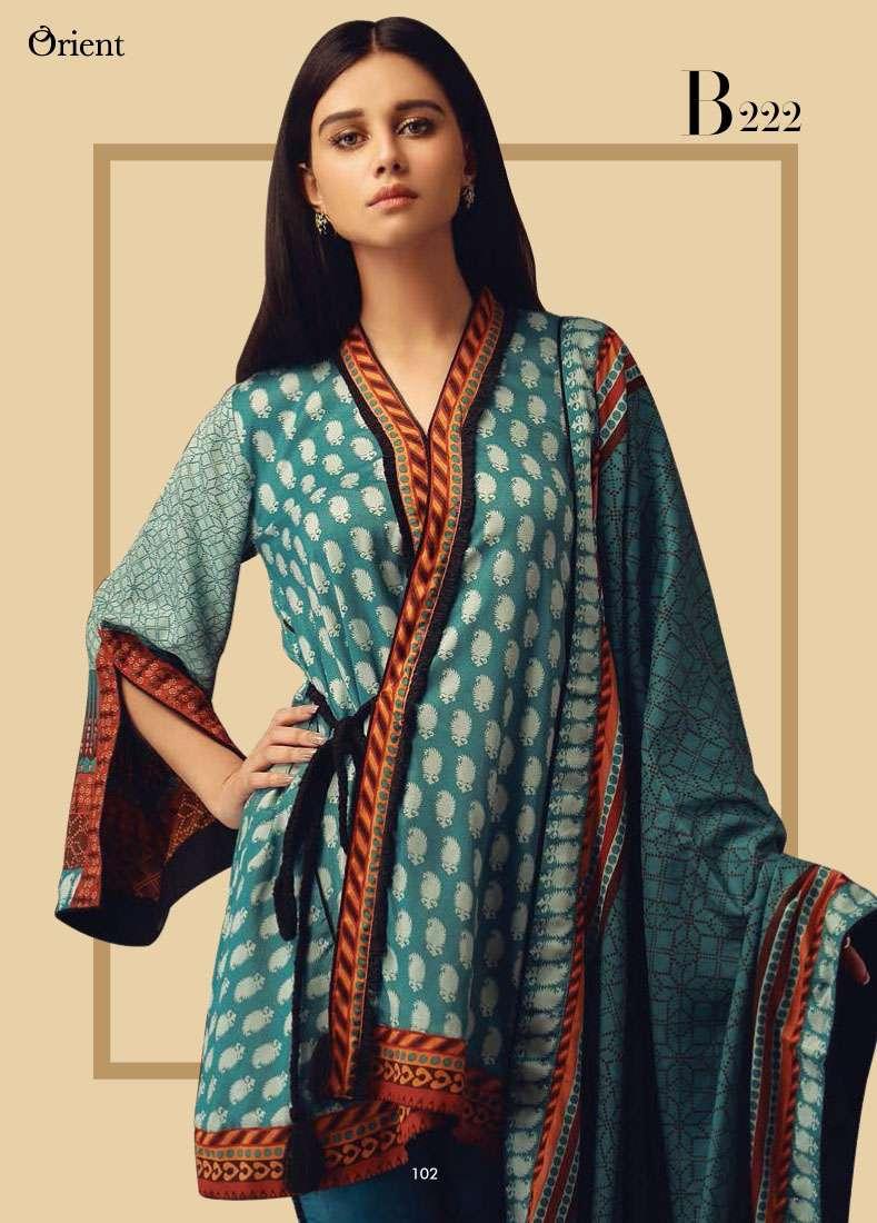 Orient Textile Embroidered Linen Unstitched 3 Piece Suit OT17W2 222B