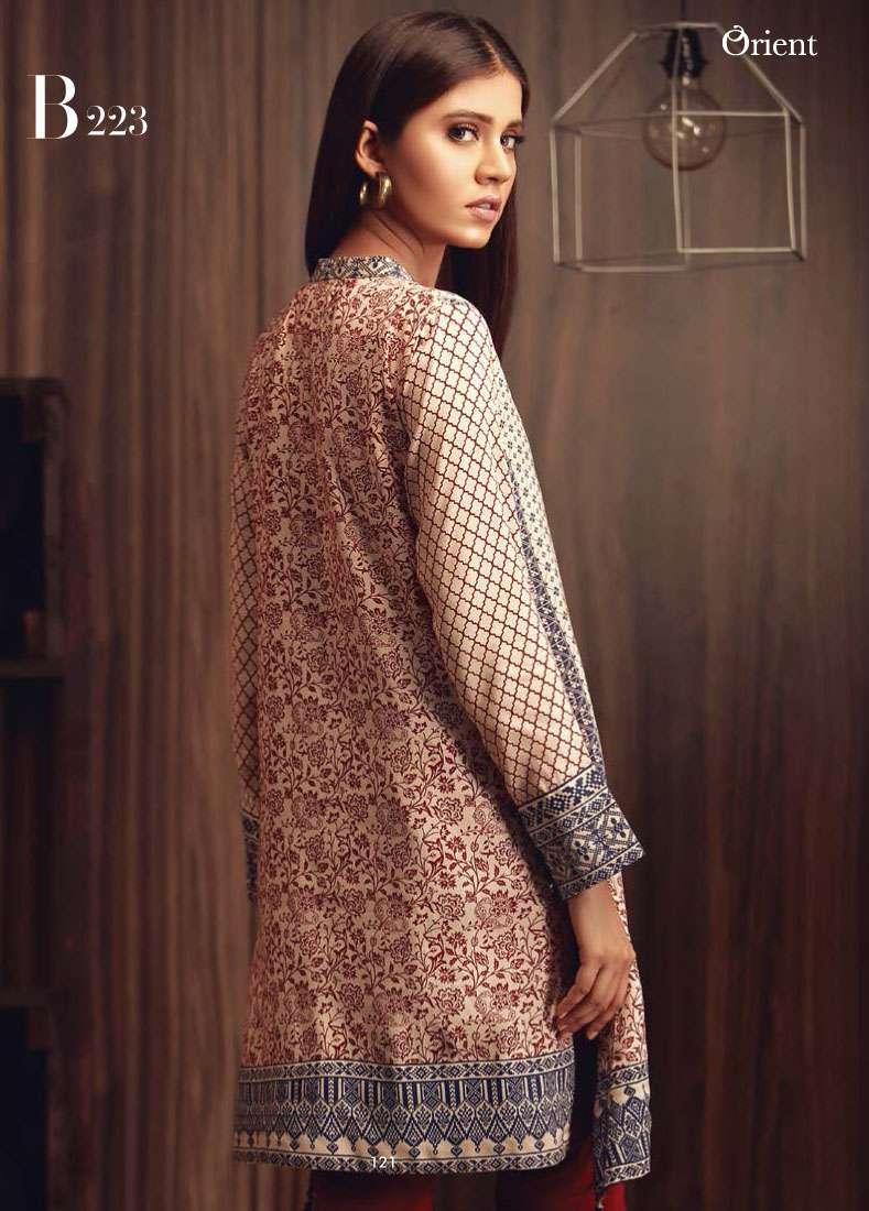 Orient Textile Embroidered Linen Unstitched Kurtis OT17W2 223B