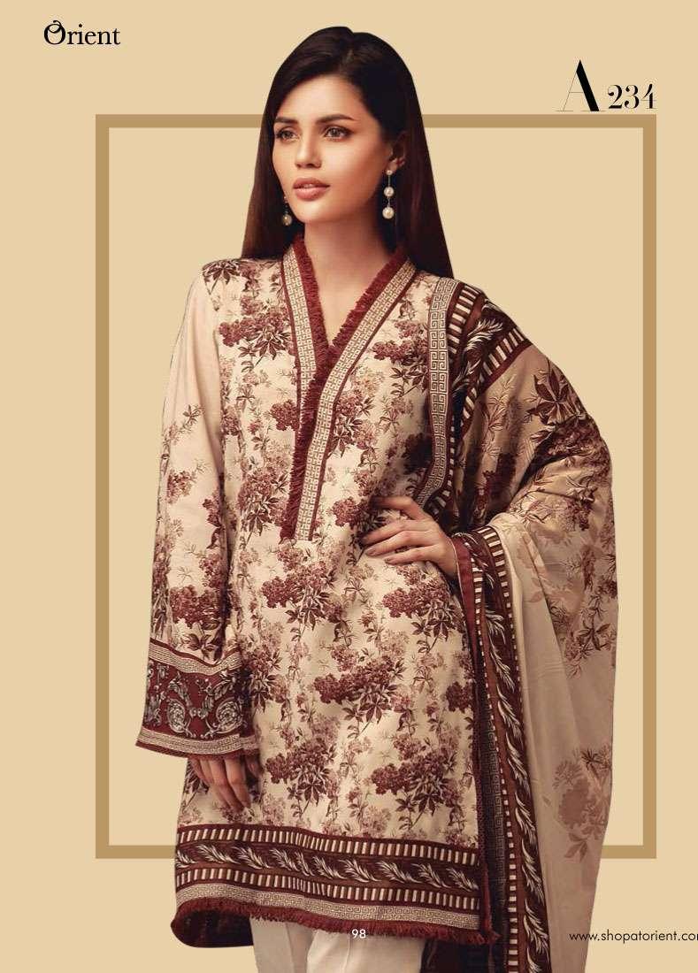 Orient Textile Embroidered Linen Unstitched 3 Piece Suit OT17W2 234A
