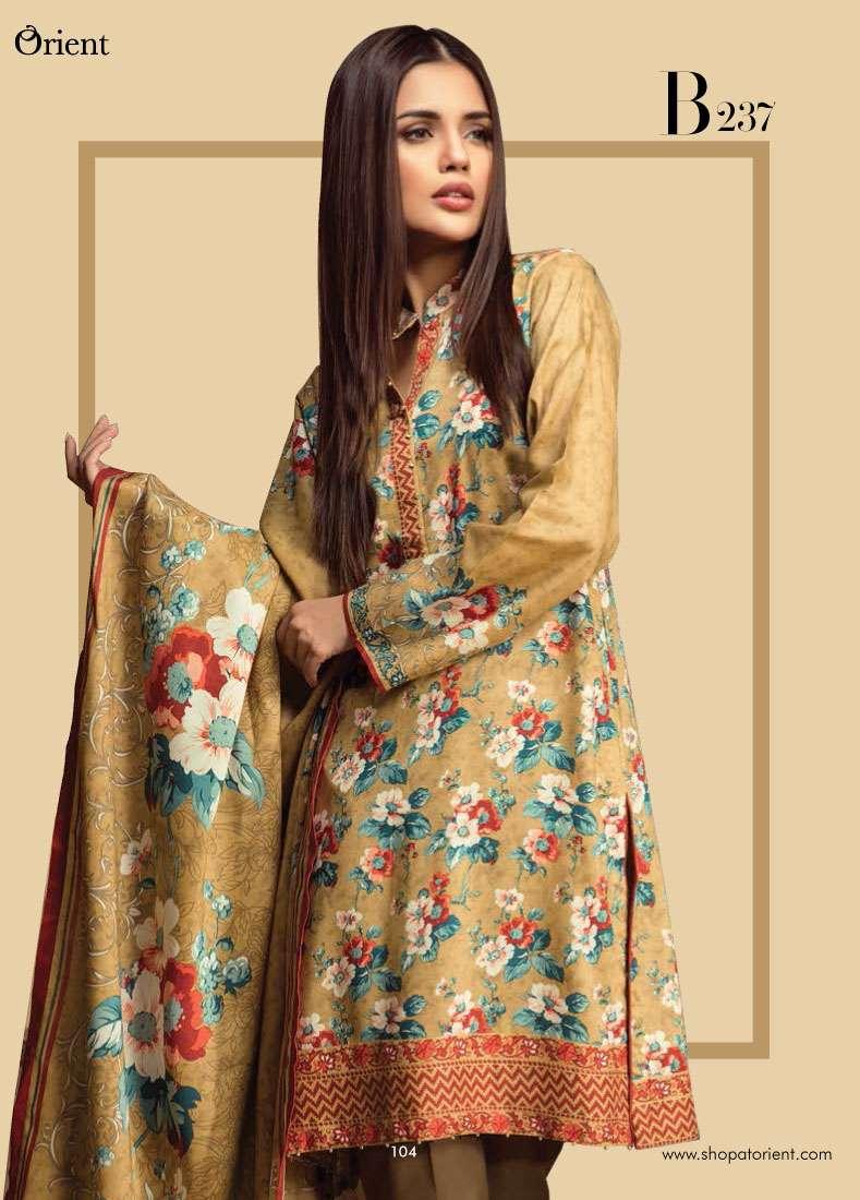 Orient Textile Embroidered Linen Unstitched 3 Piece Suit OT17W2 237B