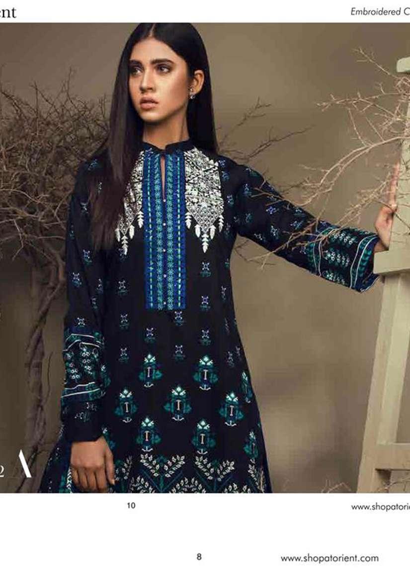 Orient Textile Embroidered Cottle Linen Unstitched 3 Piece Suit OT17W 132A