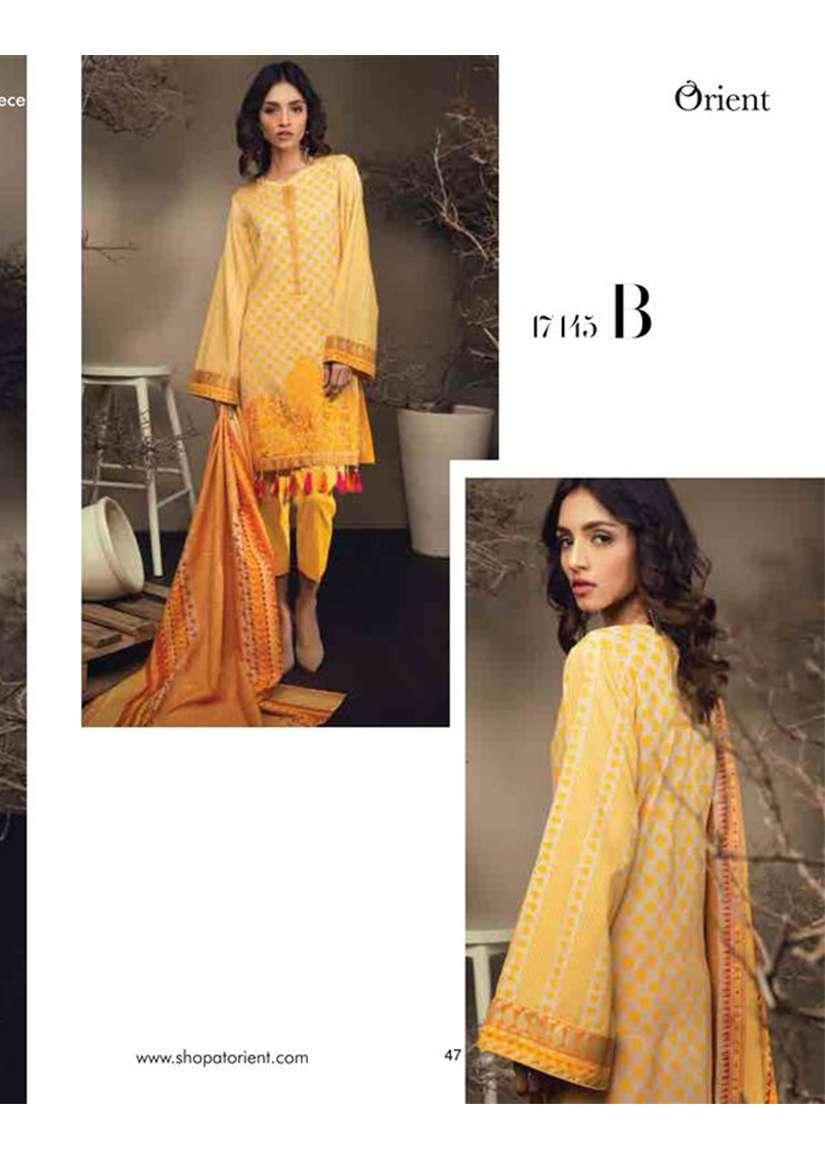 Orient Textile Embroidered Cottle Linen Unstitched 2 Piece Suit OT17W 145B