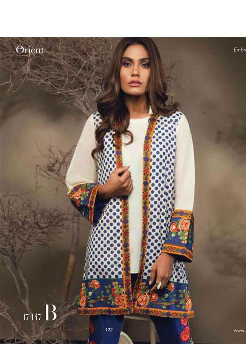 Orient Textile Embroidered Karandi Unstitched 2 Piece Suit OT17W 147B