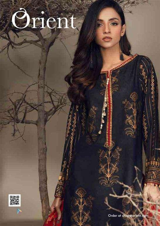 Orient Textile Embroidered Cottle Linen Unstitched 3 Piece Suit OT17W 148A