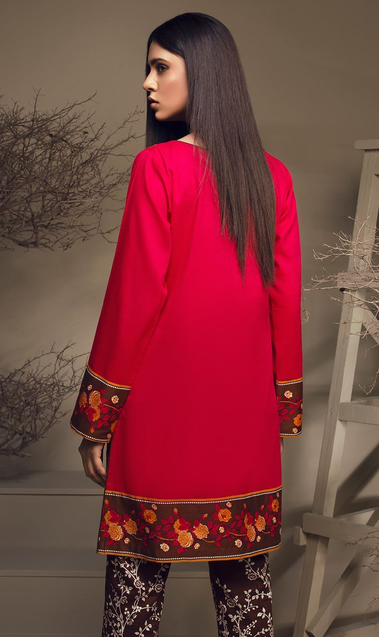 Orient Textile Embroidered Cottle Linen Unstitched 2 Piece Suit OT17W 153A