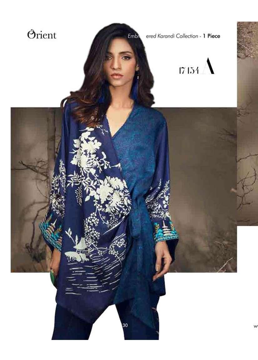 Orient Textile Embroidered Karandi Unstitched Kurtis OT17W 154A