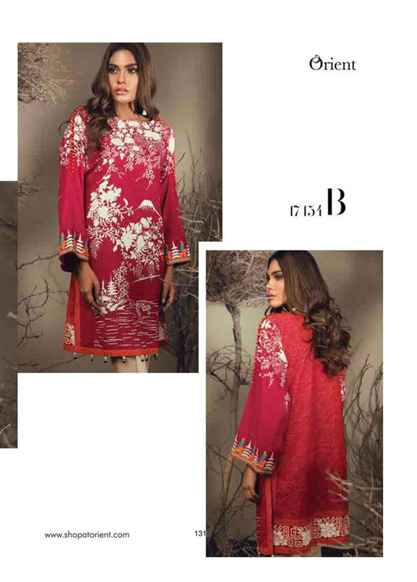 Orient Textile Embroidered Karandi Unstitched Kurtis OT17W 154B