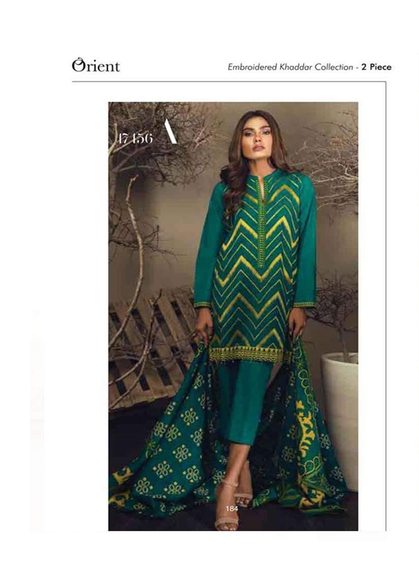 Orient Textile Embroidered Khaddar Unstitched 2 Piece Suit OT17W 156A