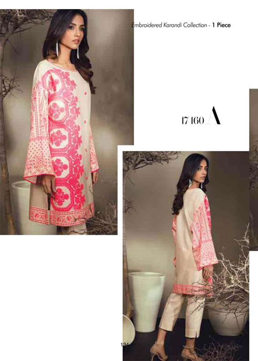 Orient Textile Embroidered Karandi Unstitched Kurtis OT17W 160A