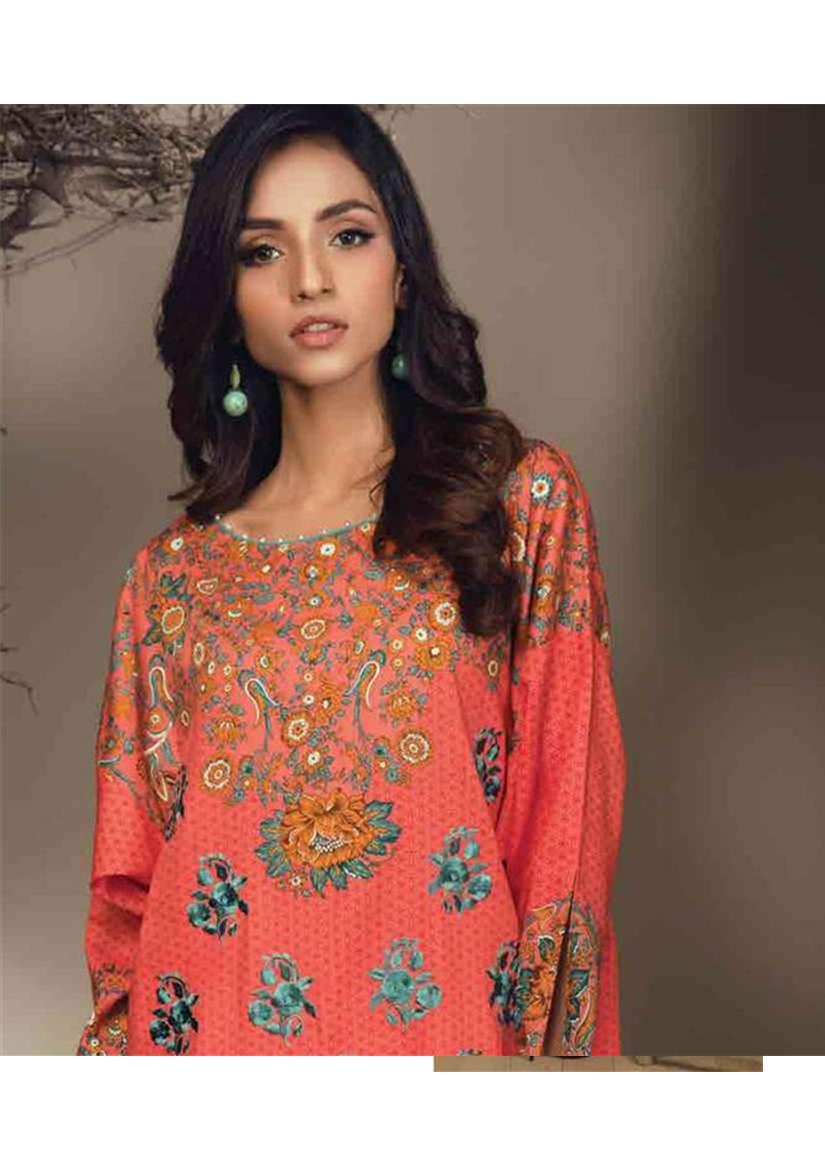 Orient Textile Embroidered Cottle Linen Unstitched Kurtis OT17W 161A