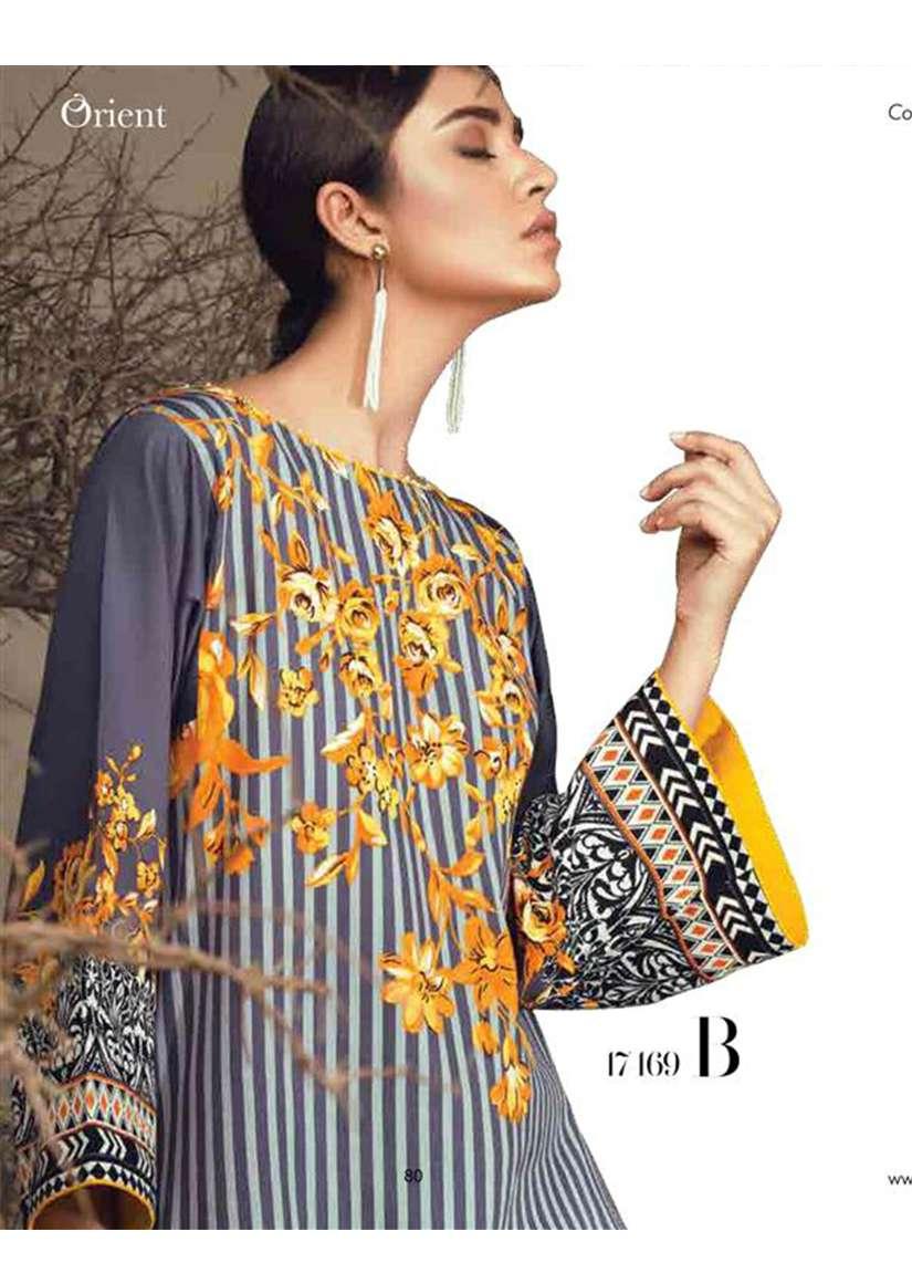 Orient Textile Embroidered Cottle Linen Unstitched 3 Piece Suit OT17W 169B