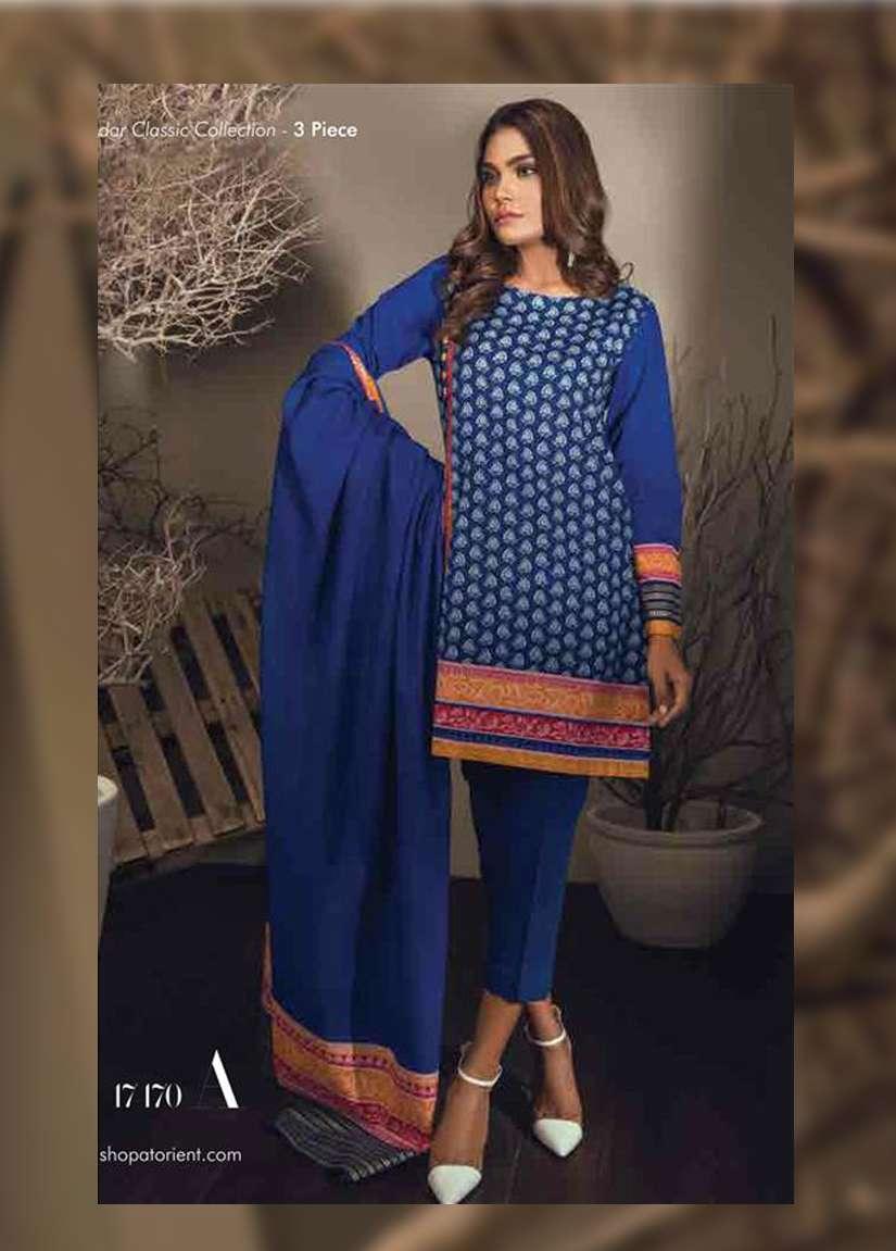 Orient Textile Embroidered Khaddar Unstitched 3 Piece Suit OT17W 170A